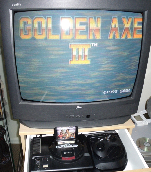 Golden Axe 3 and Super Key Screen