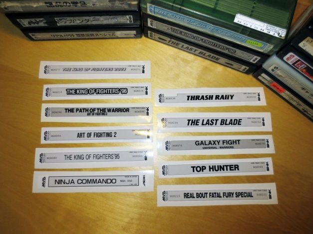 Neo Geo MVS Carts with New Labels 05