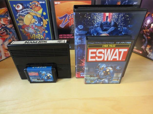 Genesis/Mega Drive next to Neo Geo MVS