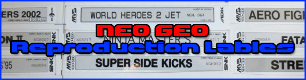 Neo Geo Reproduction Labels