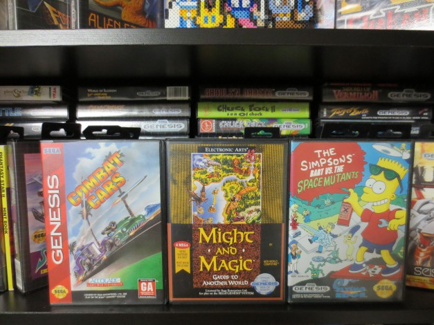 Sega Genesis Conbat Cars, Might and Magic and Bart vs the Space Mutants