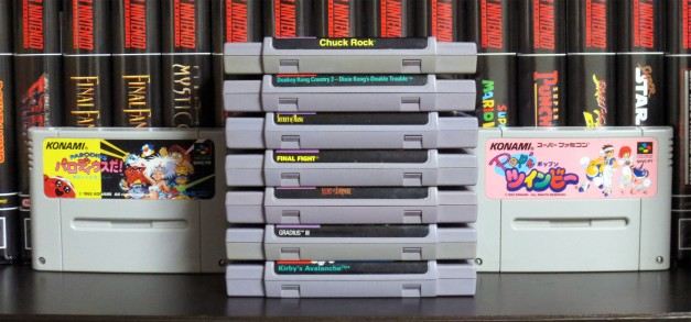 Naked SNES Carts