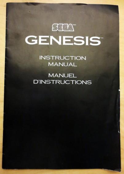 Sega Genesis Model 2 Manual