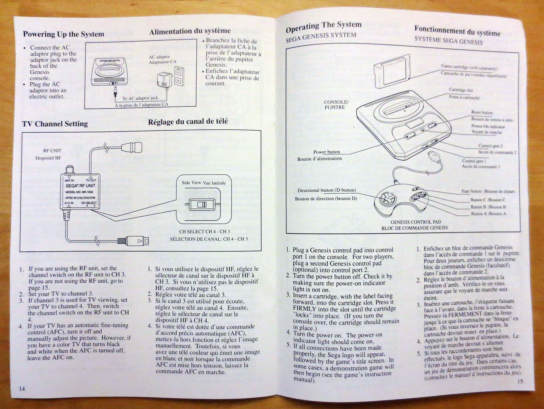 sega genesis console manual 02 retro megabit rh retromegabit com sega genesis instruction manual sega genesis manuals online